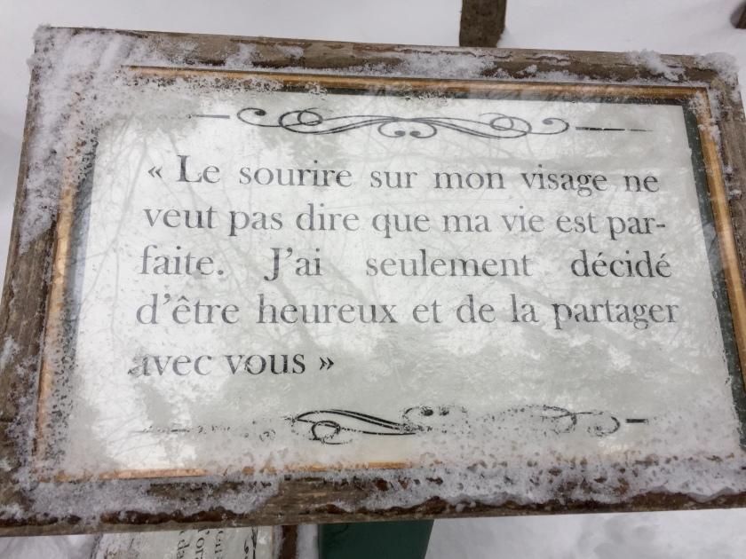 Chemin de la sagesse Havre Familial