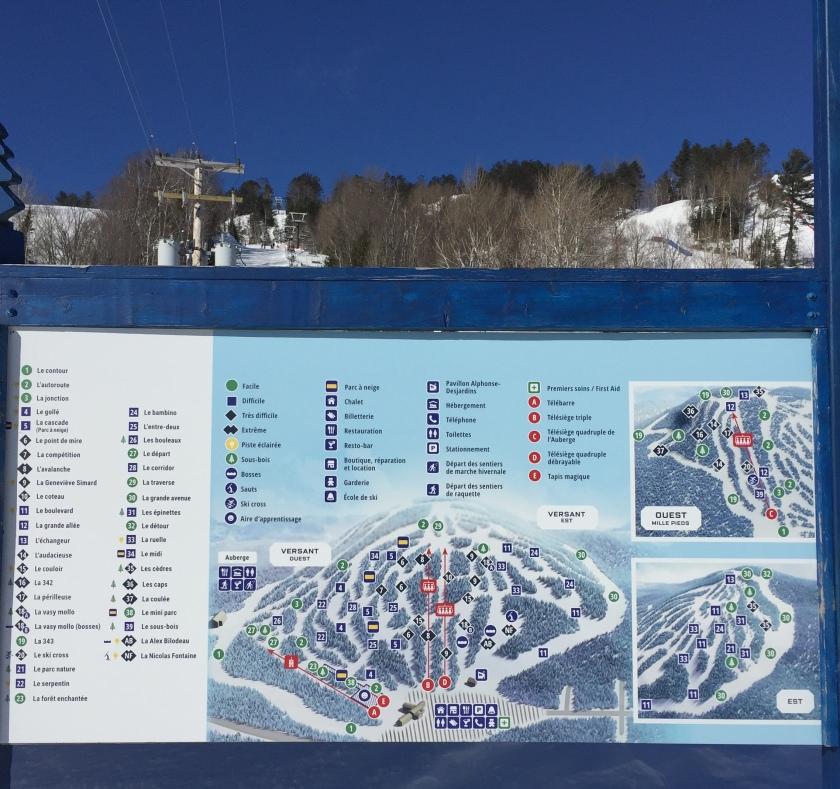 Ski Val Saint Come trail map